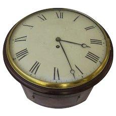 English Mahogany Wall Clock with Fusee Movement