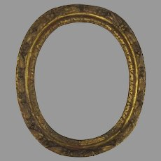 18th Century French Carved Gilt Frame Oval