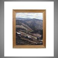 Oil on Canvas Mountain Scene by Dibble