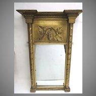 American Empire Gilt Mirror with Grape Motif