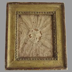 Small French Early 19th Century Carved Gilt Frame