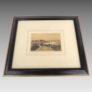 Etching by Sir Frank Short, R.A., 1857 - 1945