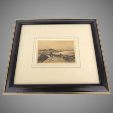 Etching by Sir Frank Short, R.A., 1857 - 1945 Sea Road Horse Rider