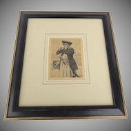 Etching  Nanty Ewart by Sir Sir James D. Linton