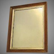 Bird's Eye Maple Framed Mirror with Silver Leaf Slip c 1840