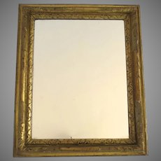 Early 19th Century Carved Gilt Mirror Non Directional