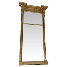 American Federal Gilt 19th Century Mirror Columns