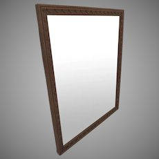 French Walnut Carved Mirror Non Directional
