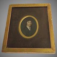 Miniature Painting of Charles Hoskins Master c 1830