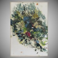 Oil on paper by Greta Hilb Abstract