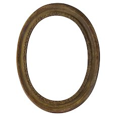 Large French Oval Carved Gilt Frame Early 19th Century Great Patina