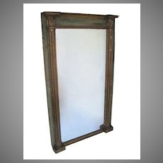 Beautiful French Empire Painted and Gilt Mirror vertical
