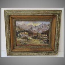 Aspen Scene Signed Oil on Artist Board