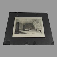 The Festive Triclinium Engraving Pompeii Published 1818 by W. B. Cooke