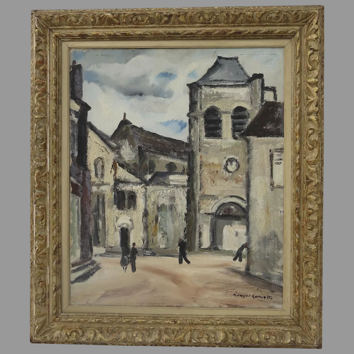 1930s French oil painting on canvas