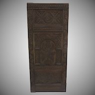 English 19th Century  Carved Panel with Pineapple Motif
