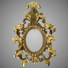 Florentine Italian Carved Wood Gilt Picture Frame