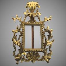 Florentine Italian Carved Wood Gilt Picture Frame/Easel