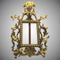 Florentine Italian Carved Wood Gilt Picture Frame/Easel
