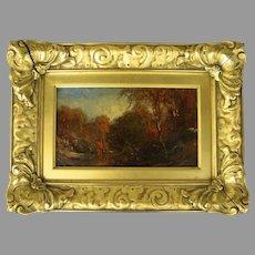 Oil on Canvas Landscape by James McG. Hart 1828 -1901 Fabulous Period Gilt Frame