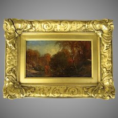 Oil on Canvas Landscape by James McG. Hart 1828 -1901 Fabulous Period Gilt Frame