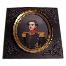 Miniature Military Portrait by Joseph-Philippe Oorloft