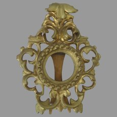 Italian Carved Gilt Rococo Small Frame Easel Back