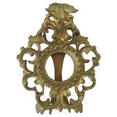 Italian Carved Gilt Rococo Small Frame Easel Back