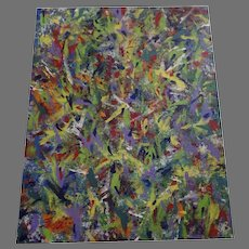 """Large Abstract Painting Signed 48"""" by 36"""""""