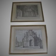 Pair of Architectural Drawings Early