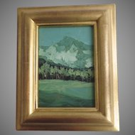 "Oil Painting ""Aspen Afternoon"" by Tom Svinarich Gilt Frame 2001"