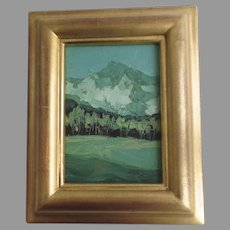 """Oil Painting """"Aspen Afternoon"""" by Tom Svinarich Gilt Frame 2001"""
