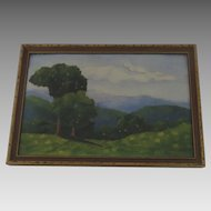 1940's Charming Small Landscape Painting by Beatrice Buchtel