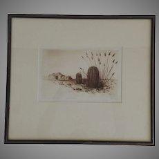 Cactus by BURR, George Elbert, (American, 1859-1939) Etching