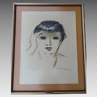 Kees Van Dongen (French, 1877 -1968) Lithograph in Colors Fernande Olivier 1953
