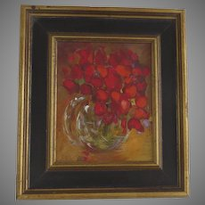 Painting on Board by Colorado Artist Edwin Friedman Signed Dated '96
