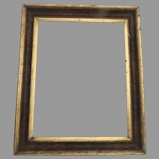 19th Century Gilt Molded Frame Non Directional Faux Bois