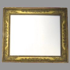 19th Century Gilt and Gesso Classical Motif Frame