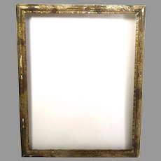 Charming Gilt Incised French 19th Century Frame