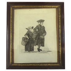 'Mr. Randal and Mrs. Hammond' Etched by Thomas Orde-Powlett 1768