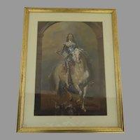 Portrait of Charles I by William Derby Gilt Frame