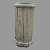 Faux Bois Stump Log Piling Rope Pedestal Composite Stone