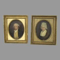 Pair of English Early 19th Century Framed Portraits