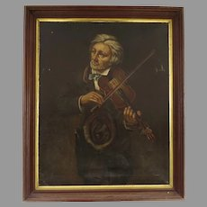 Late 19th Century Portrait of a Violinist