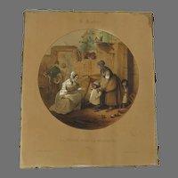 """The Visit to the Nanny"" Print by Jules David"