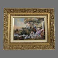 19th Century Bétourné Limoges J.P. Loup Painting Enamel on Copper