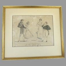 Le Bon Genre No.24 'Les Contrastes' Print by Georges Jacques Gatine 1806