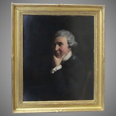 18th Century English Oil on Canvas by John Opie Sitter Dr. Wolcot
