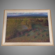 "Large Oil on Board By Andrew Andy Peters ""Acequia"" 35"" by 48"" Signed"