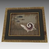 Mid Century Pietra Dura Shell Fish by Richard Blow for Montici
